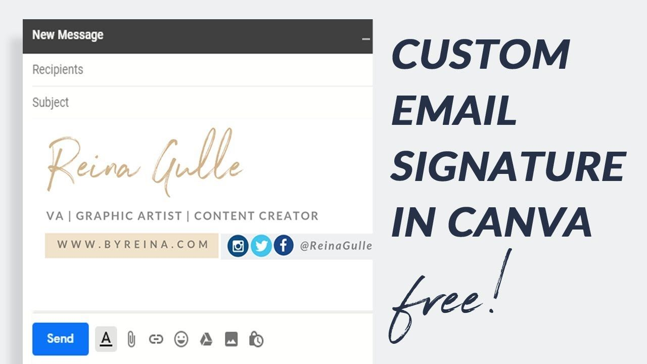 How to Create Email Signature in Canva for Free Gmail