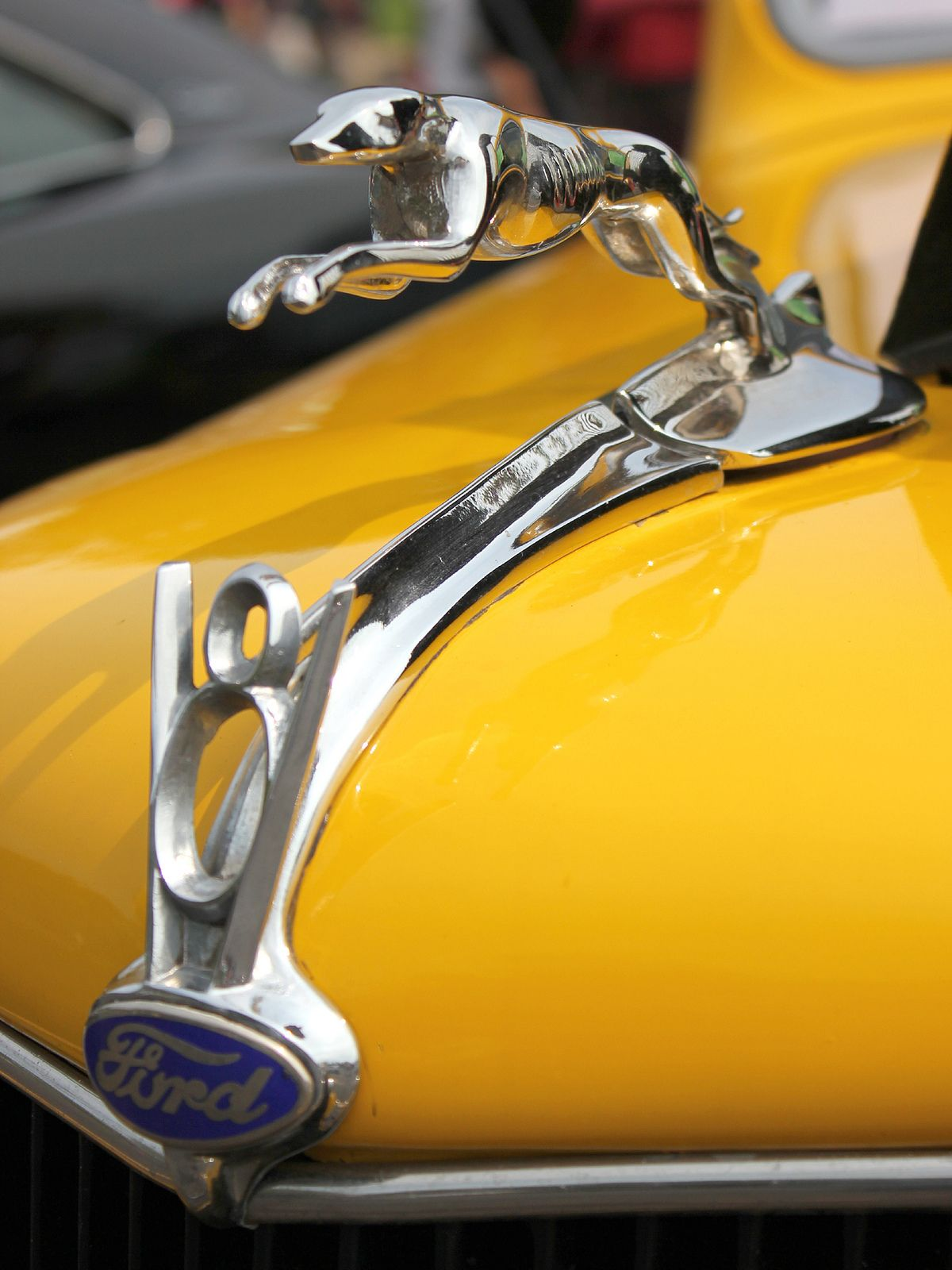 Greyhound Hood Ornament From A 1930s Ford V8 Hood Ornaments
