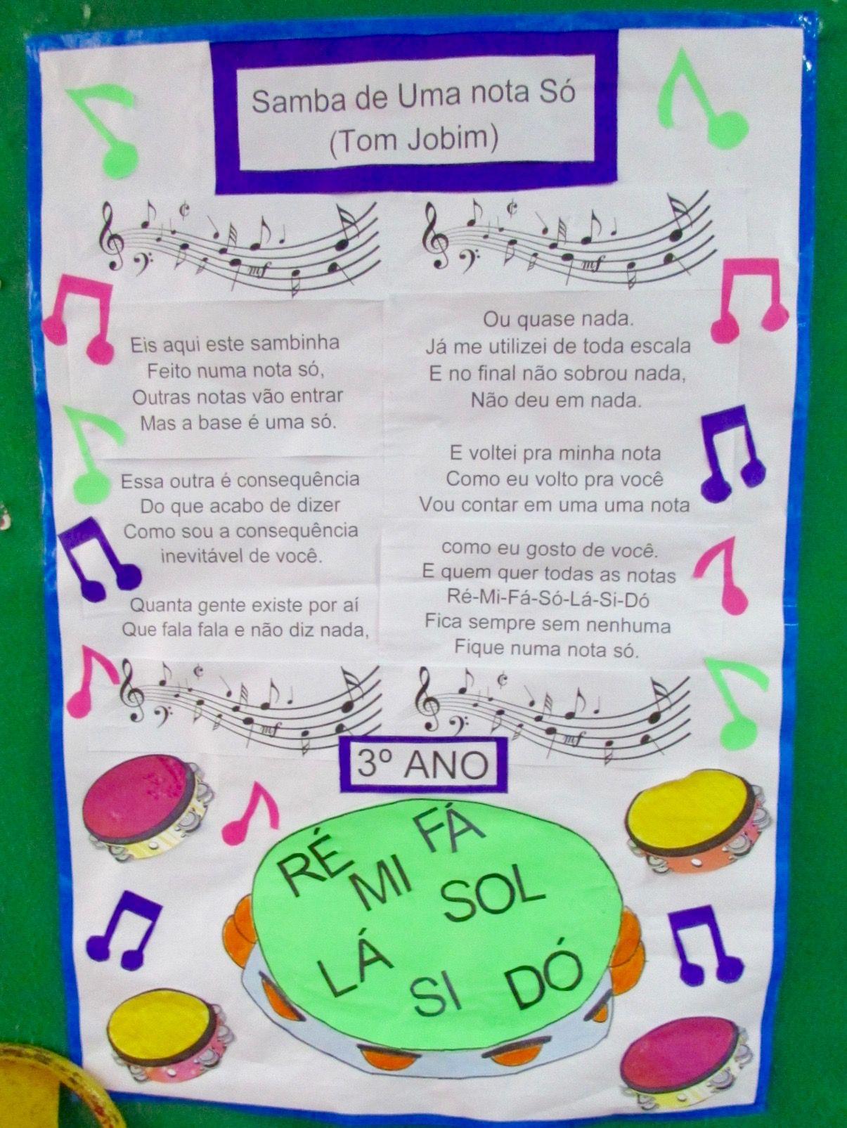 Samba De Uma Nota So Com Imagens Atividades Para Educacao