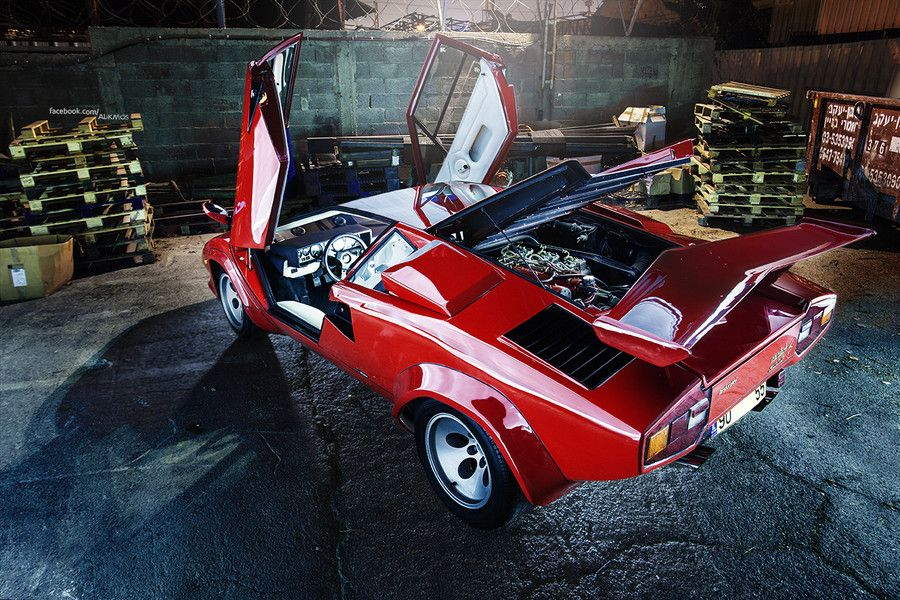 1985 Countach 5000QV. Named for a crude