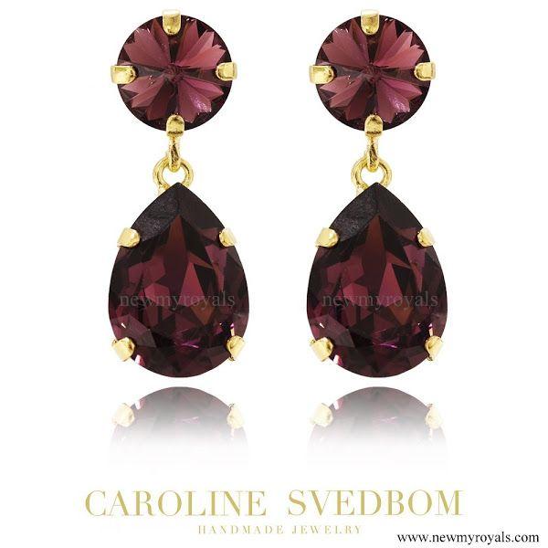 Caroline Svedbom Jewelry Burgundy Classic Drop Earring