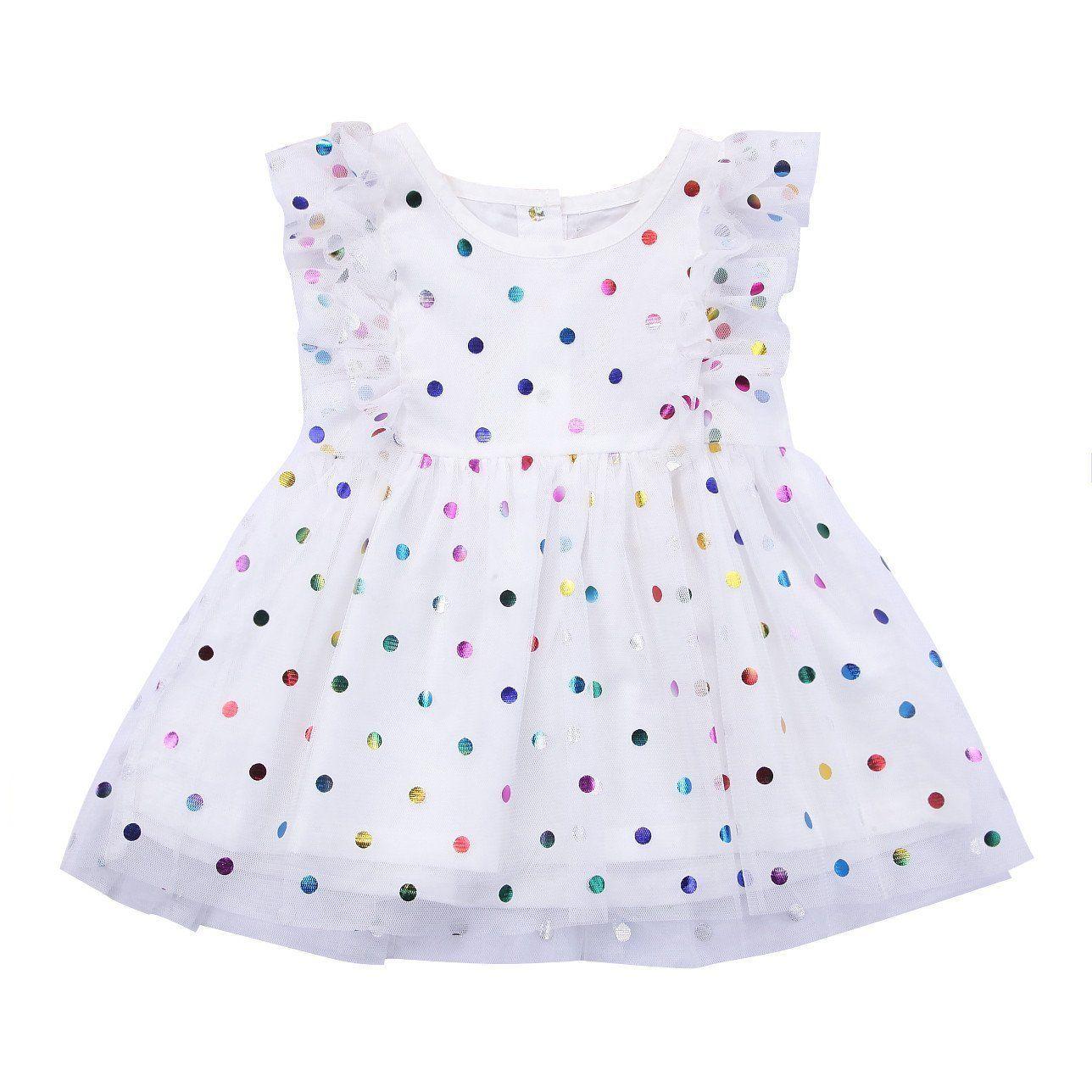 Jaimee Polka Dot Baby Dress The cutest multi colored
