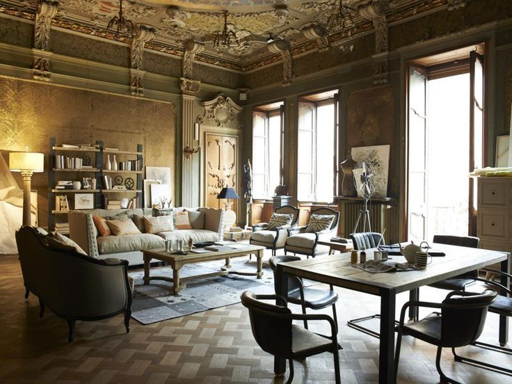 Neoclassic style living area by Dialma Brown with with light ...