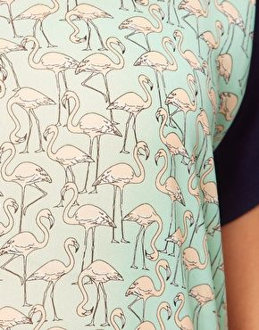 Love this flamingo print.. off a top from the Asos Curve range. Want this!