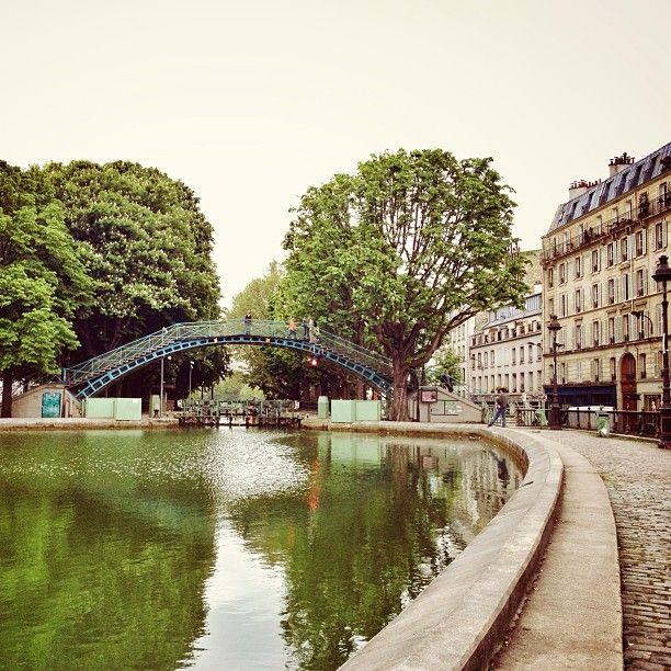 Canal Saint-Martin in Paris