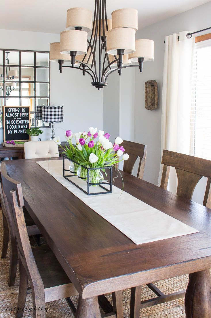 Kitchen And Dining Room Spring Tour | Dining room ...