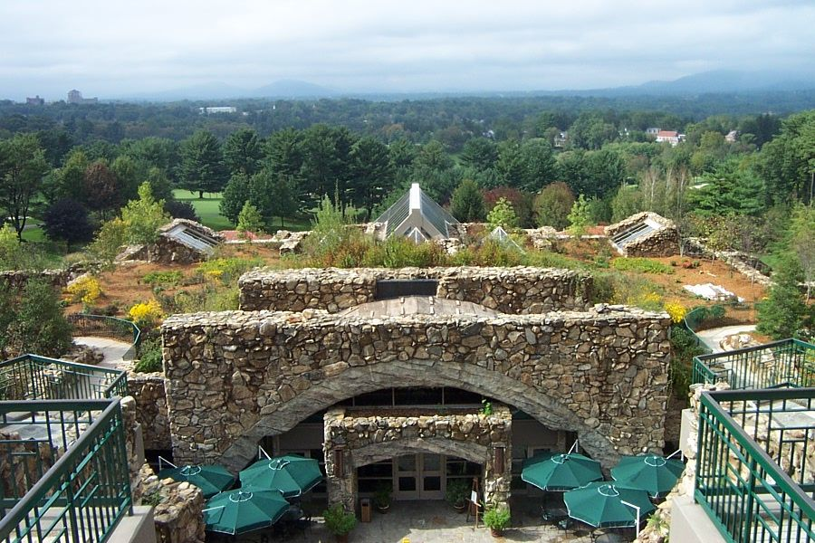 Grove Park Inn - a view from the upper level terrace of the hotel