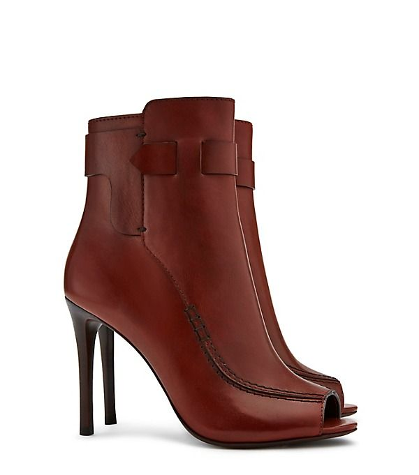 Tory Burch Leather Peep-Toe Ankle Boots for cheap online free shipping 100% guaranteed 2014 unisex sale online 7MfhsAA
