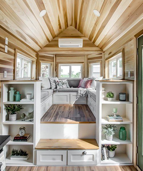 extremely functional, tiny home-on-wheels packs a large social area in only 22 sqm