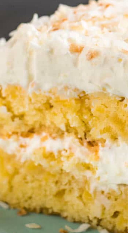 Fresh pineapple coconut cake recipe