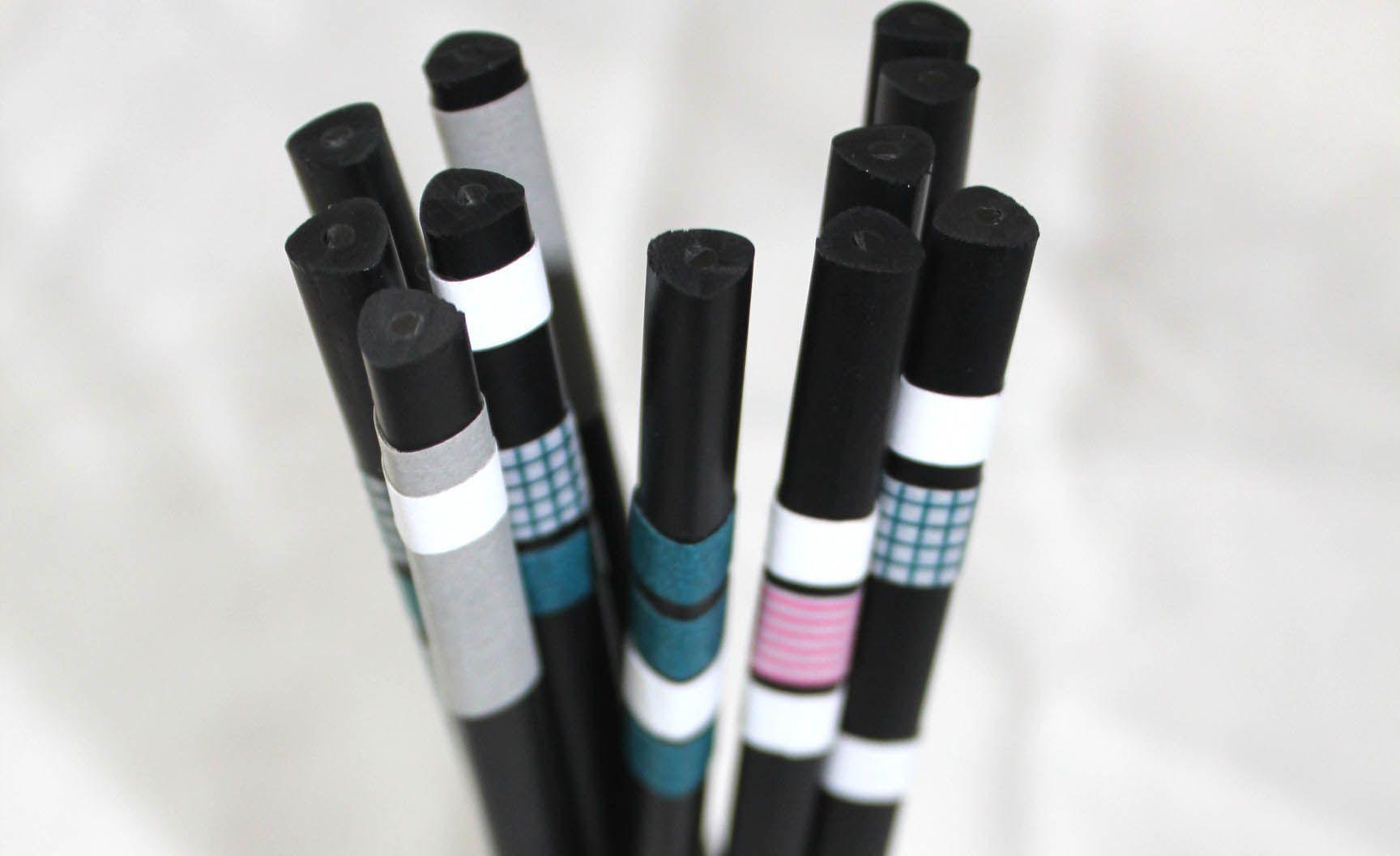 Customiser des crayons avec du maskng tape