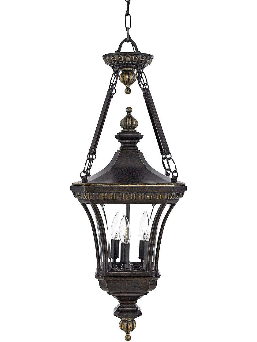 Antique Outdoor Light Fixtures Devon Large Hanging Lantern In Imperial Bronze For Fro Outdoor Hanging Lights Outdoor Pendant Lighting Outdoor Hanging Lanterns