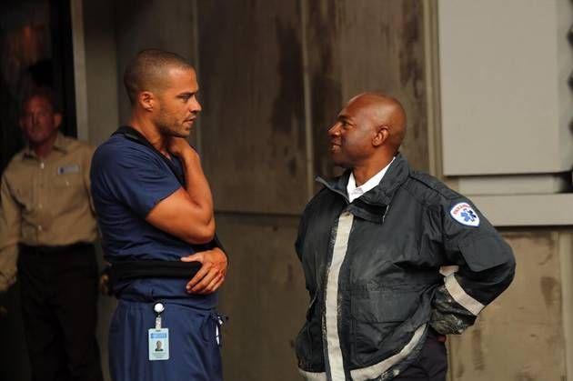 Jackson Avery and a Paramedic in Grey\'s Anatomy Season 10, Episode 1 ...