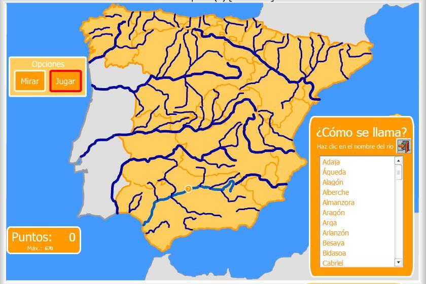 Mapa Rios España Interactivo.Mapas Interactivos Para Trabajar El Relieve De Espana A