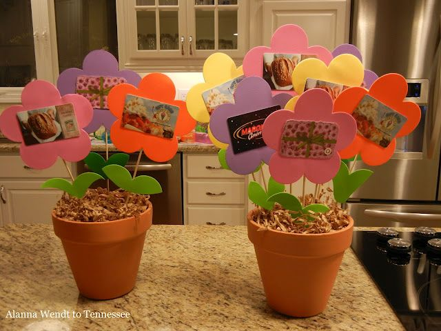 teacher gifts - Gift Card Flower Pots…