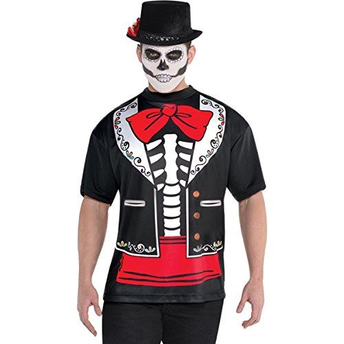 Amscan Day of The Dead Mens XL Printed T-Shirt Missy Moo   www - 2016 mens halloween costume ideas