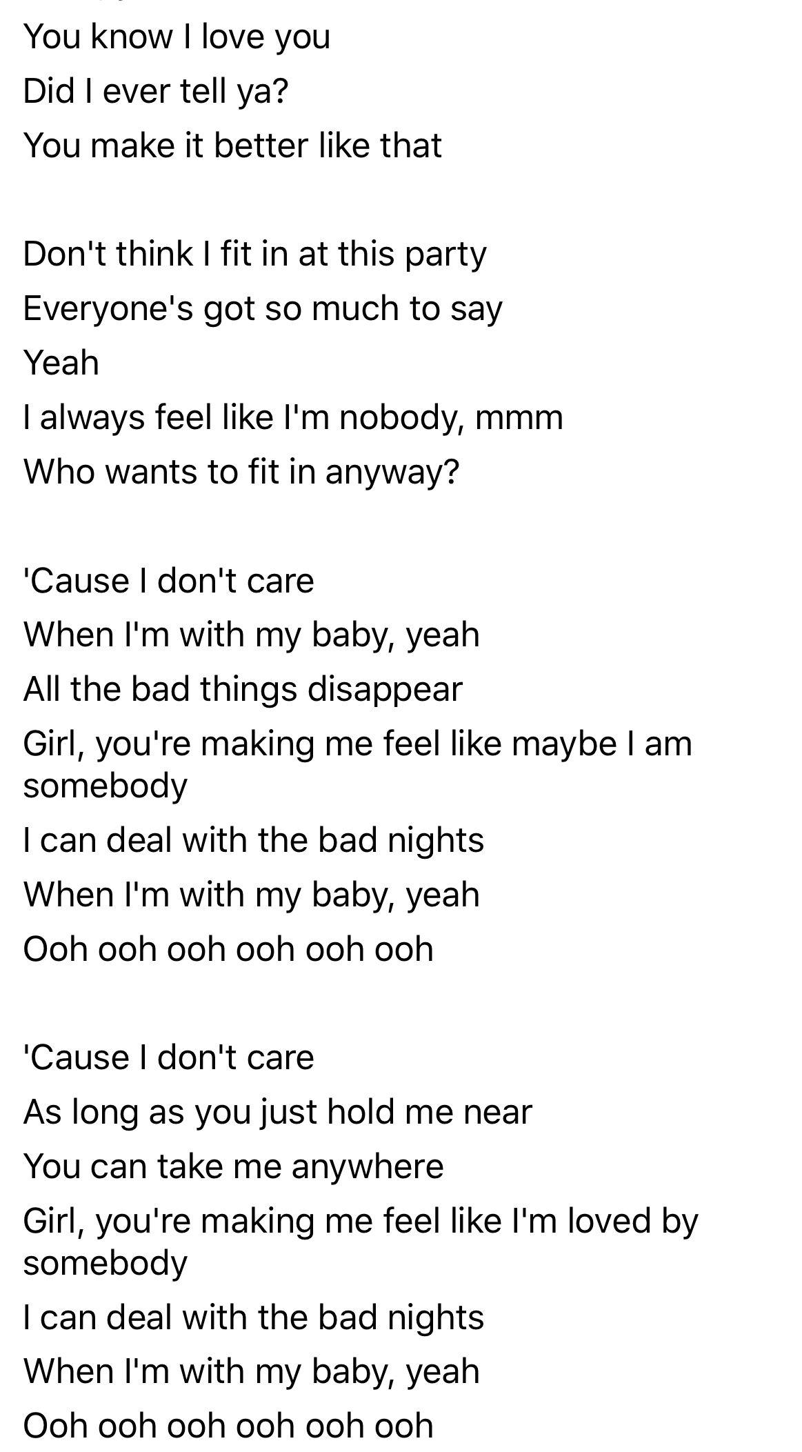 When I M With My Baby Lyrics : lyrics, Don't, Sheeran, Justin, Bieber, Lyrics,, Quotes,, Lyrics