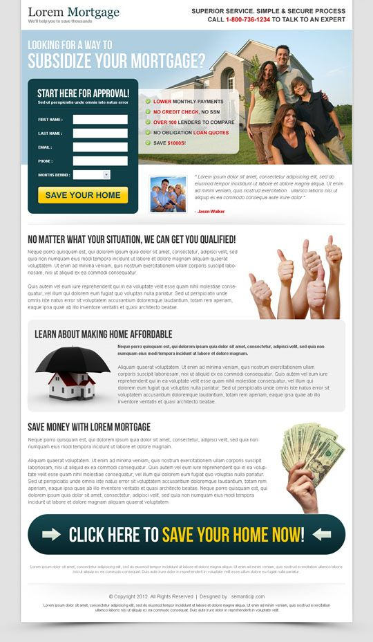 Mortgage landing page for sale on http\/\/wwwsemanticlp - home for sale template