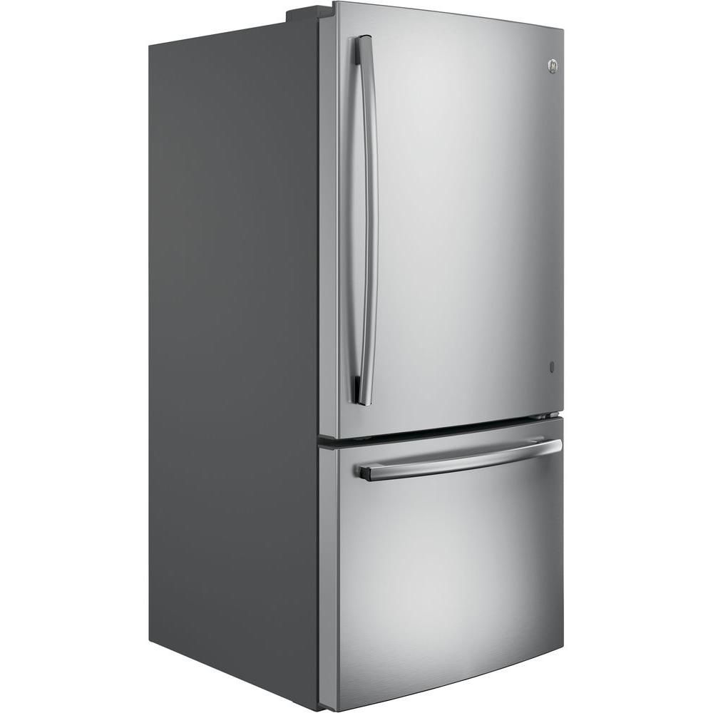 Ge 248 cu ft bottom freezer refrigerator in stainless
