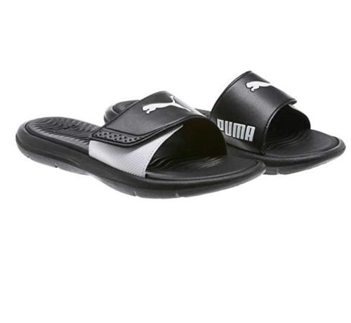 bfba6a78218 Brand New Puma Women's Surfcat Slide Slip On Sandals Black & White ...