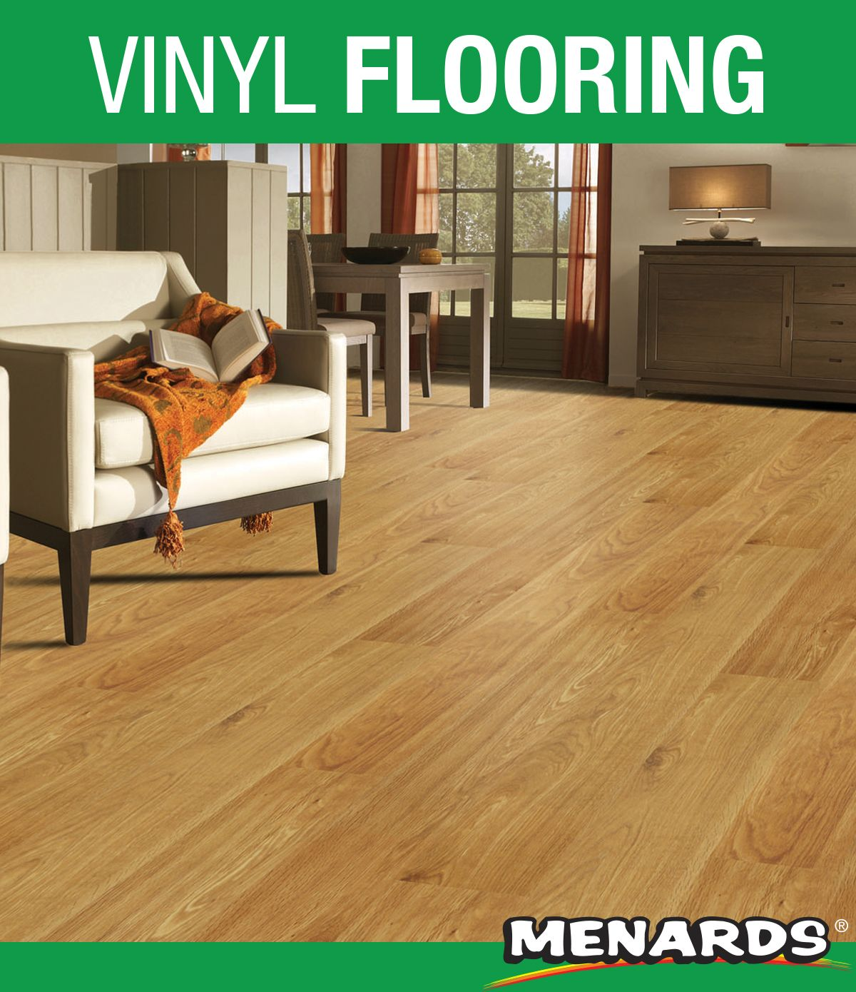 EZ Click luxury vinyl planks feature a beautiful wood
