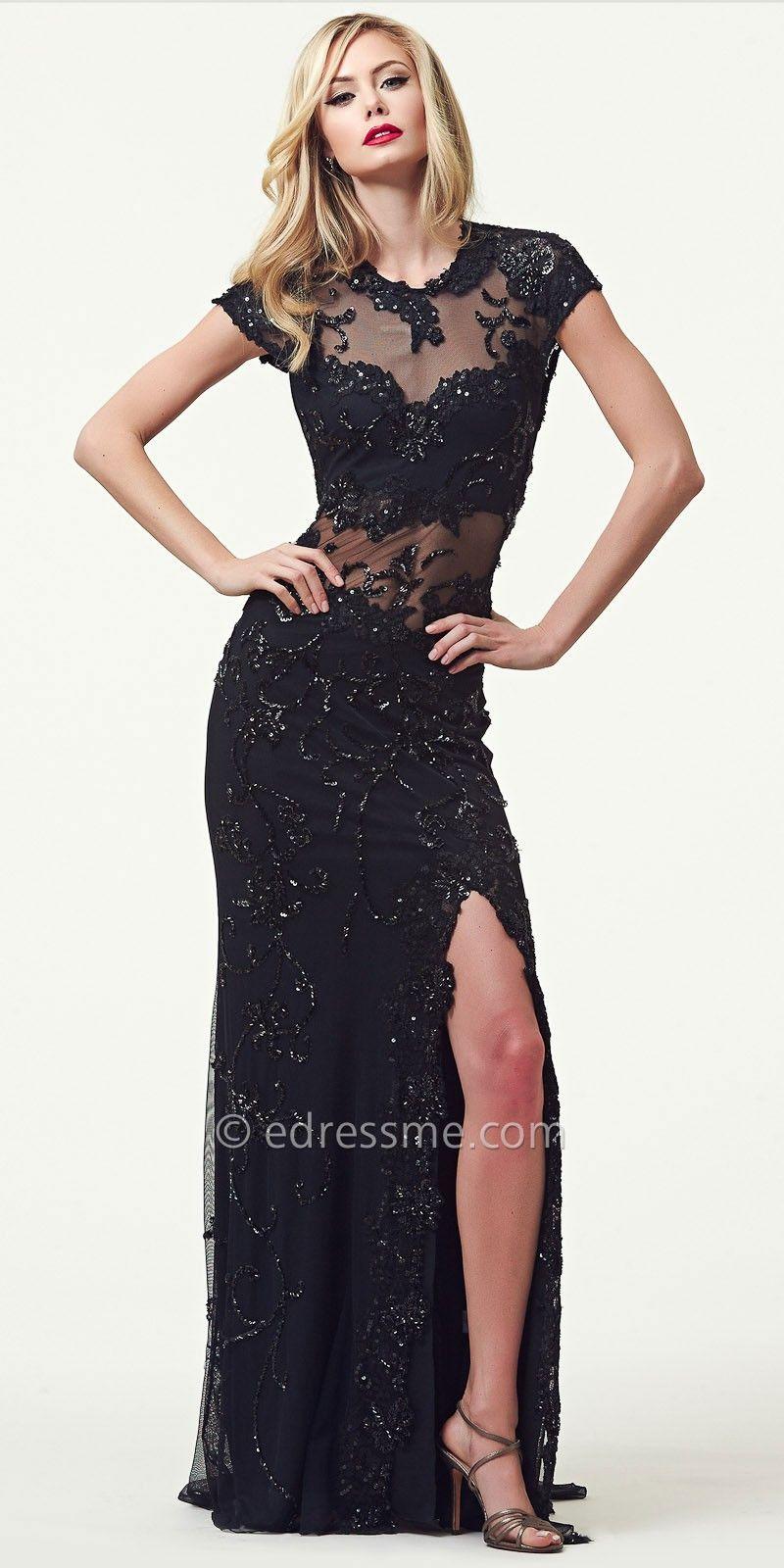 Black formal dress by mac duggal edressme pintowin fashion
