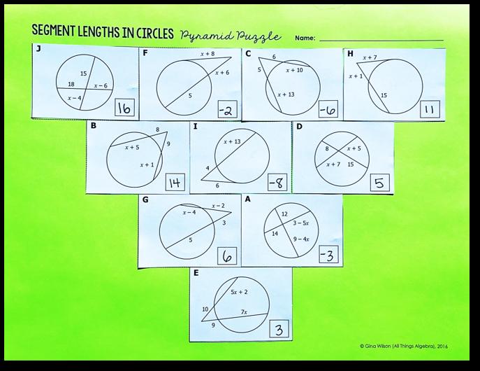 segments in circles worksheet pdf