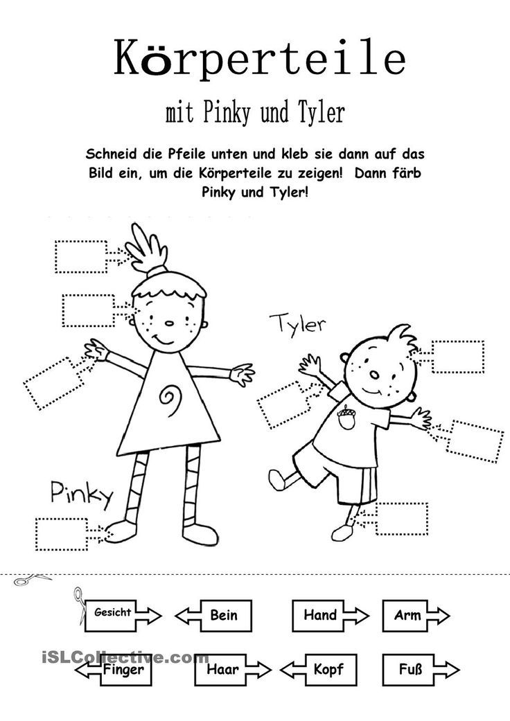 Körperteile mit Pinky und Tyler | Schule | Pinterest | Deutsch ...
