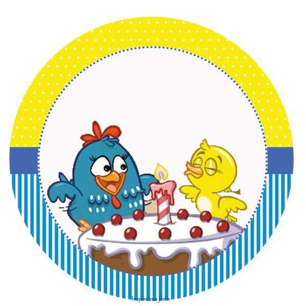 Kit Digital Gratuito Galinha Pintadinha Azul E Amarelo Tag