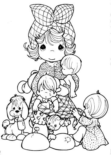 Precious Moments Coloring Page(s). Mothers Day 1 | Precious Moments ...