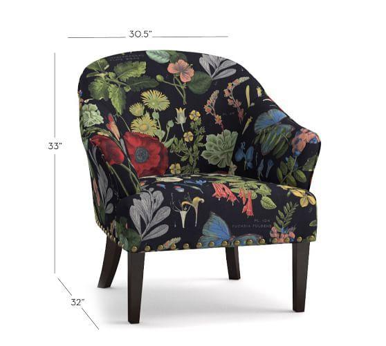 Tremendous Ellis Upholstered Armchair Poppy Botanical Print Unemploymentrelief Wooden Chair Designs For Living Room Unemploymentrelieforg