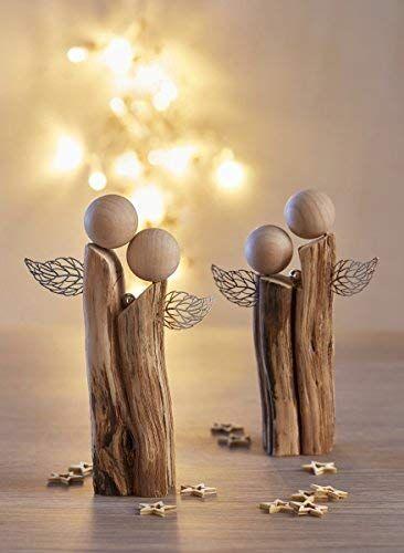 Deko Aus Holz Fur Winter Weihnachten Amazon De Ingrid Moras