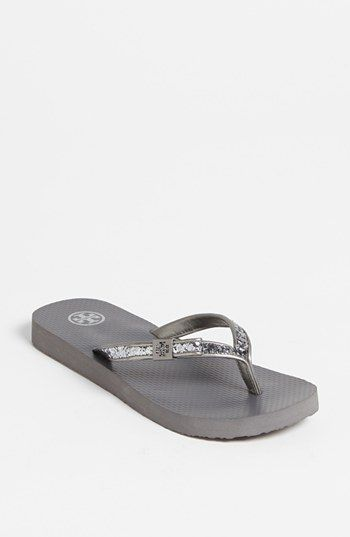 a6876f109 Tory Burch  Carey  Flip Flop in Pewter