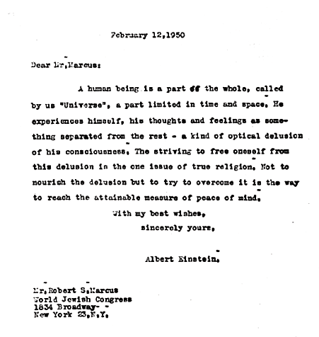 Albert Einstein S Surprising Thought On The Meaning Of Life Essay