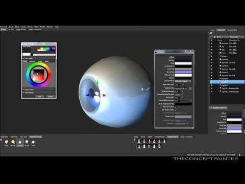 ▶ How to create 3D eye in Maya/ Mudbox - [HD] - YouTube