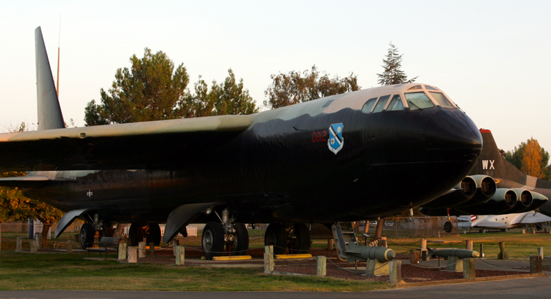 Boeing B52D Stratorfortress military aircraft bomber at