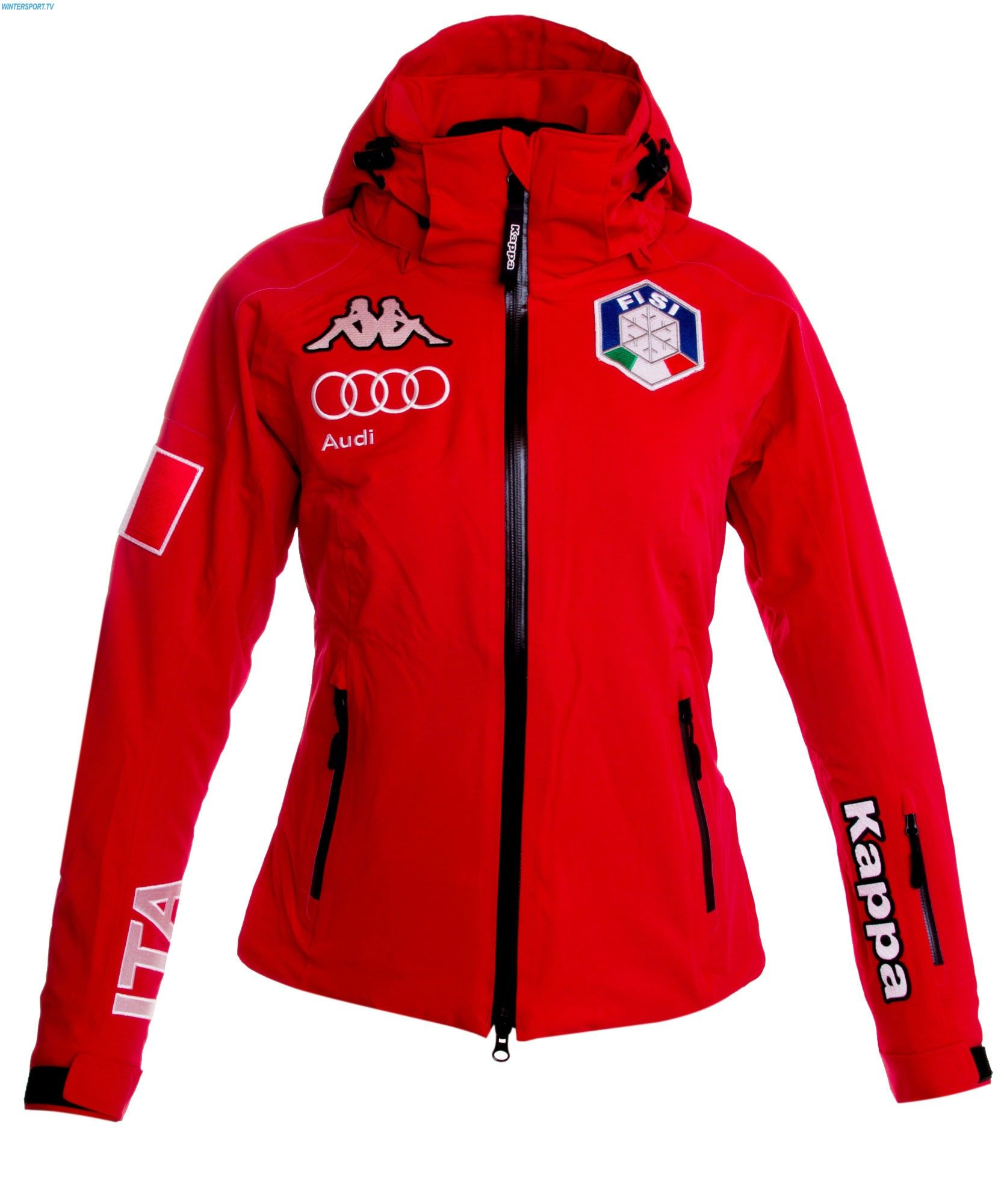 Kappa Women Italian Team FISI Jacket – Red  ee120f135a2