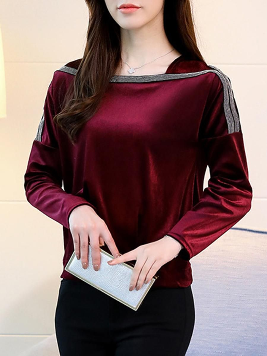 Glitter plain long sleeve tshirts in robes pinterest