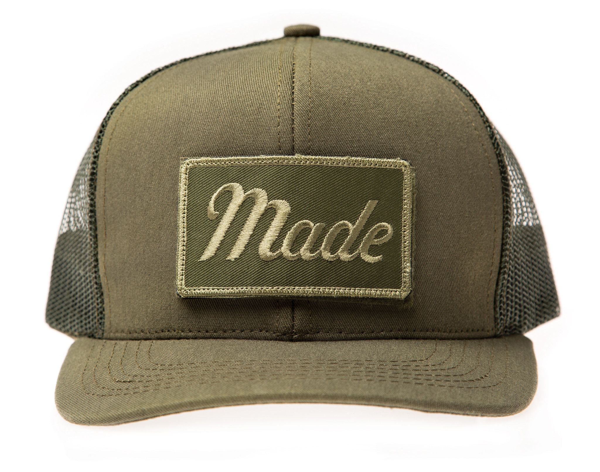 Army Green Trucker Hat (with Velcro patch) in 2019  57ddc6559d6