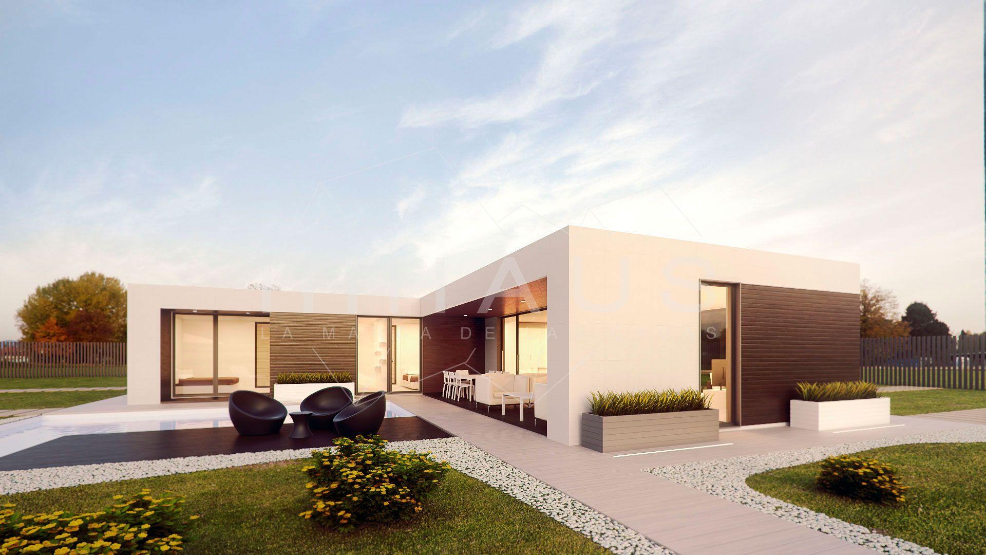 Viviendas modulares de dise o inhaus vista lateral motril for Casa vivienda jardin pdf