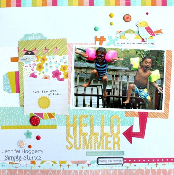 Hello+Summer - Simple Stories using the Sunshine and Happiness collection