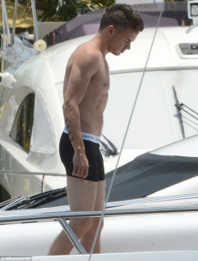 Liam Payne Strips Down to His Boxer Briefs for Shirtless