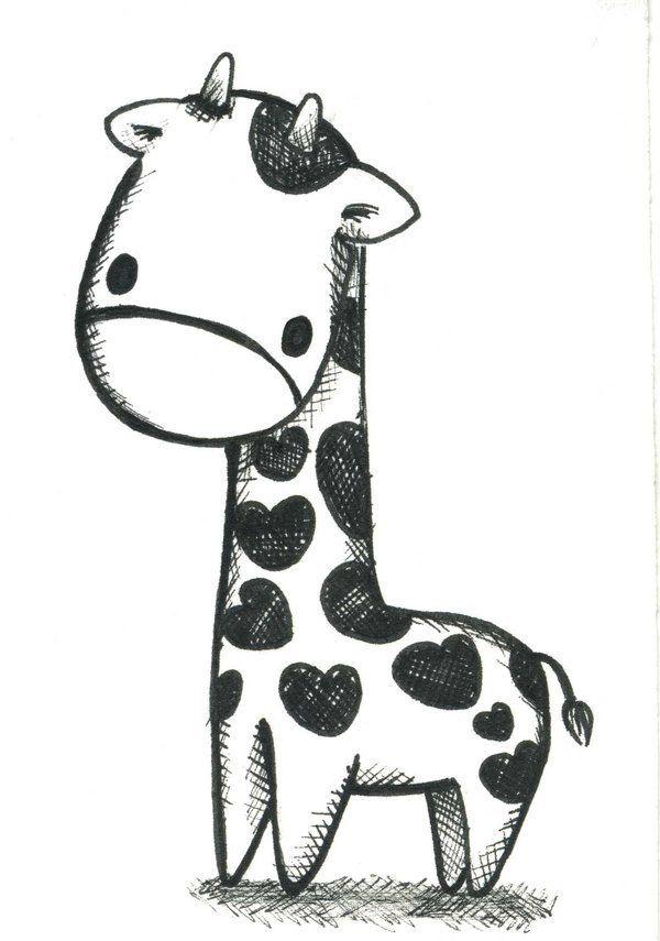 Cute Baby Giraffe Drawing : giraffe, drawing, Giraffe, Animal, Drawings,, Drawing,, Drawings