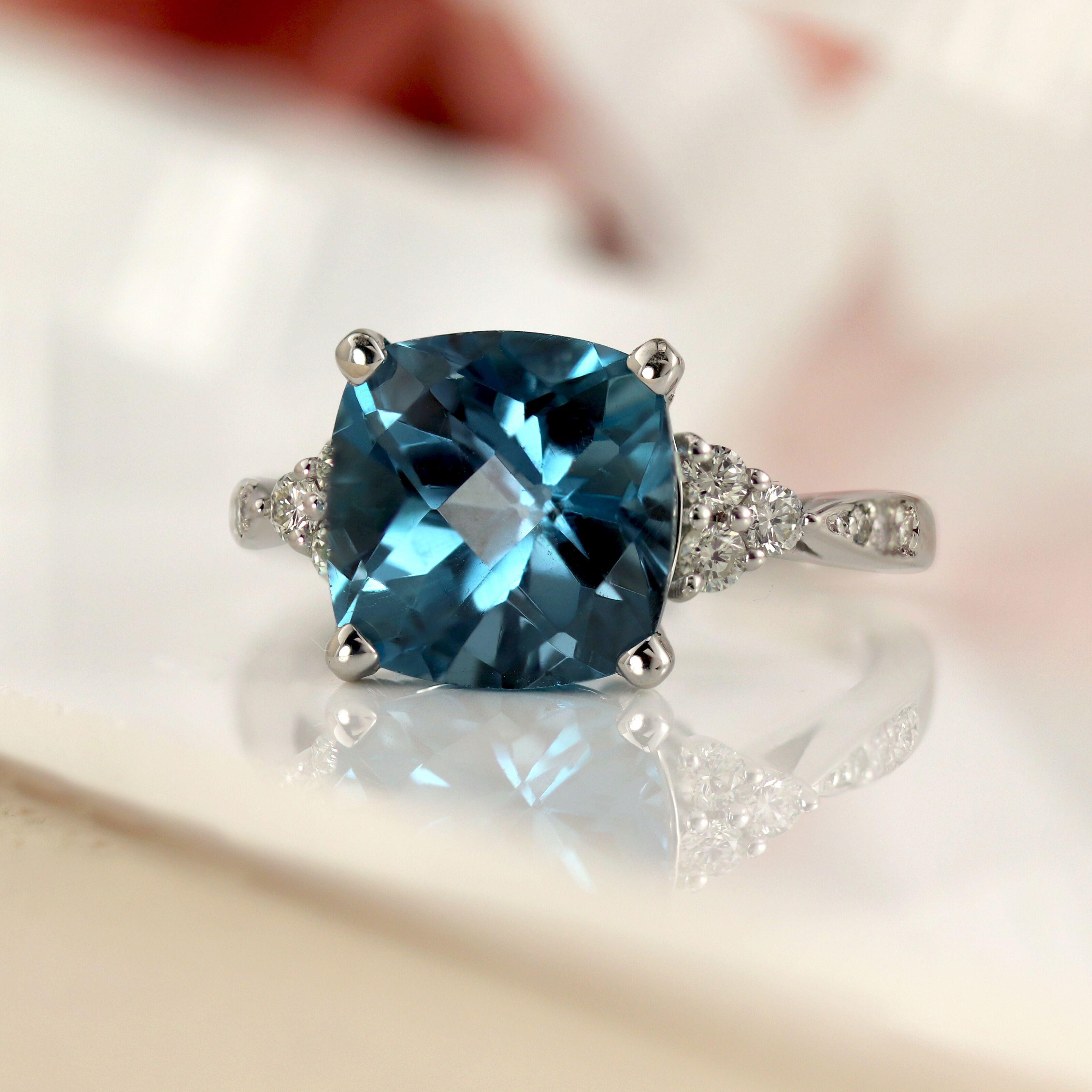 Gemstone Engagement Rings #cushionengagementring