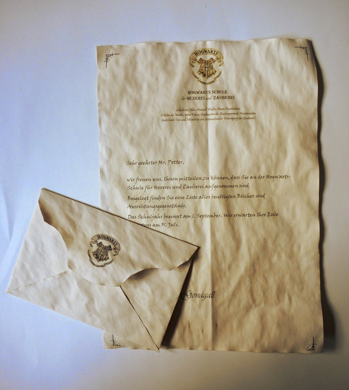 Do It For Yourself Mein Hogwarts Brief Diy Selber Machen Hogwarts Brief Harry Potter Buchstaben Harry Potter Selber Machen