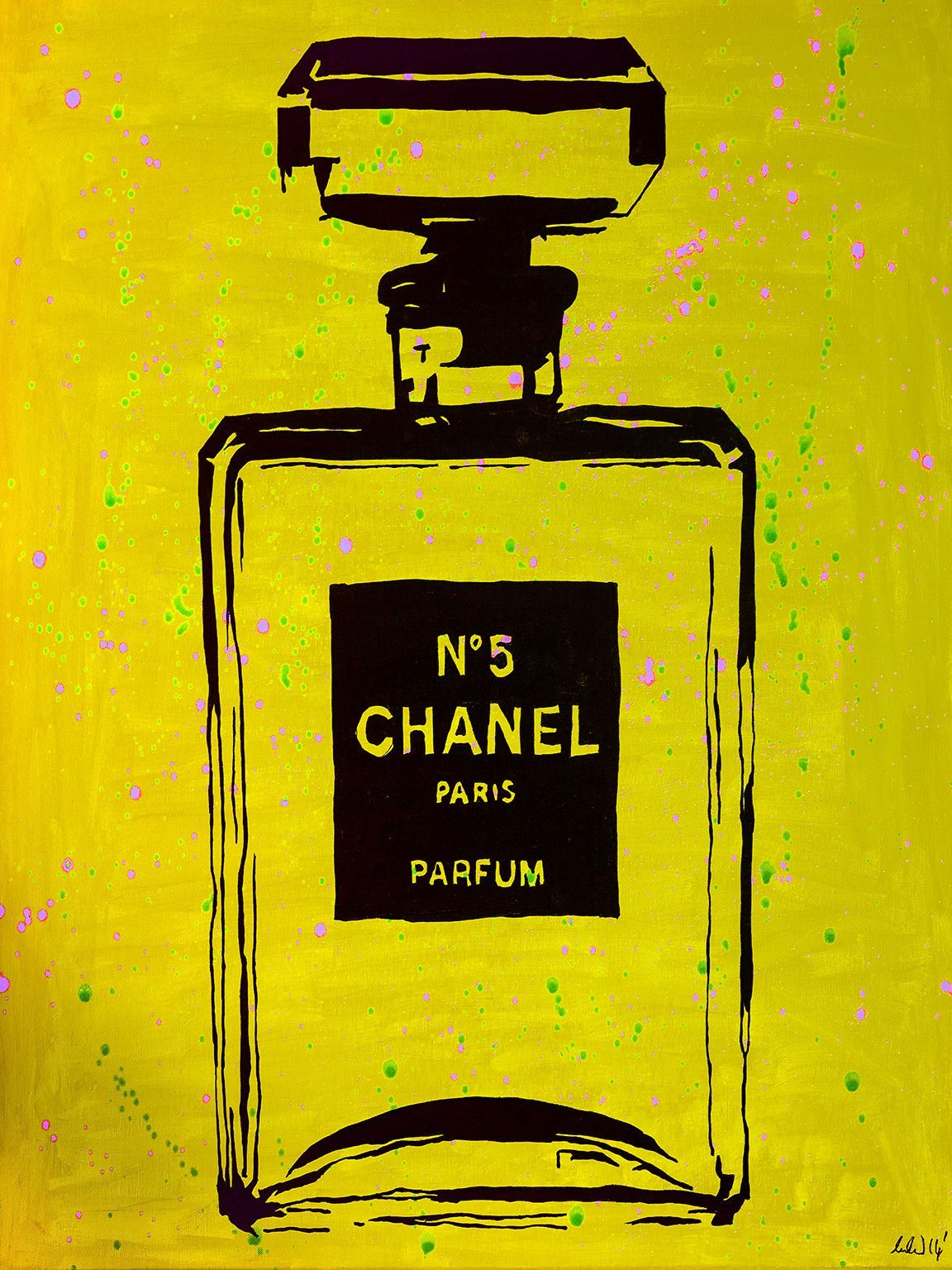 Chanel Chic by Pop Art Queen Graphic Art on Wrapped Canvas in Yellow ...