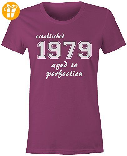 Established 1979 aged to perfection ☆ Rundhals-T-Shirt Frauen-Damen ☆  hochwertig
