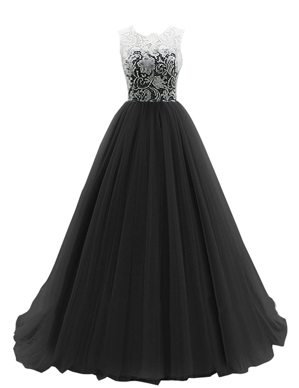 Dresstells® Long Prom Dress Tulle Evening Dance Bridesmadi Gown ...