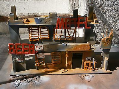 "Wasteland Custom Building Diorama ""Acid Rain"" ""GI Joe"" 3.75 or 4 inch - Awesome  