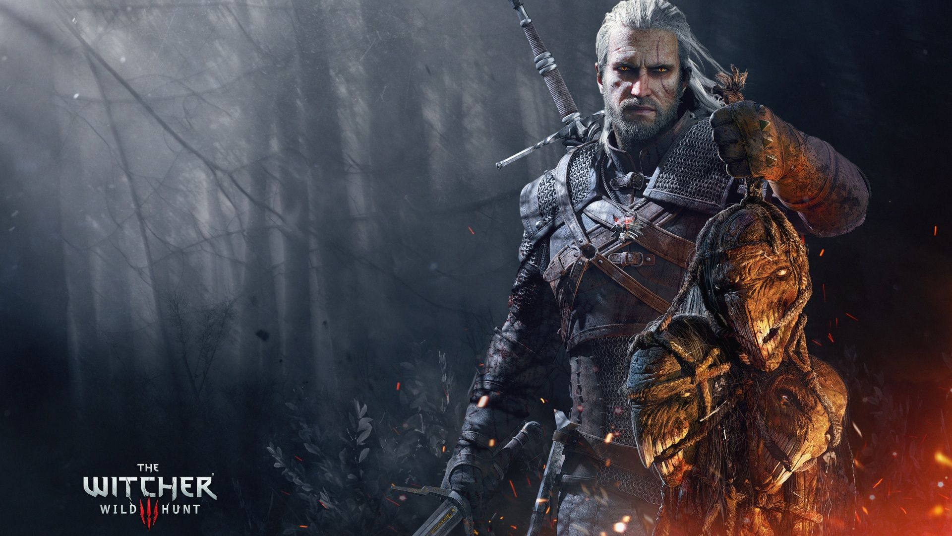 Wallpaper the witcher geralt armor poster x The